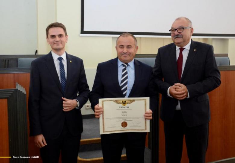 Odebranie dotacji w Urzędzie Marszałkowskim we Wrocławiu